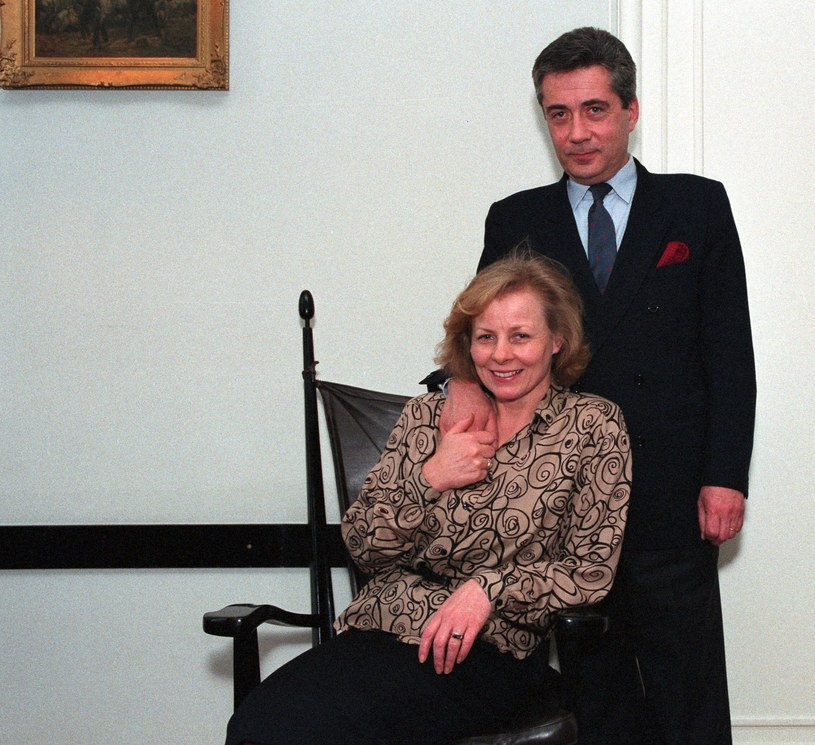 Anna Nehrebecka i Iwo Byczewski w 1992 roku /Zenon Zyburtowicz /Fotonova