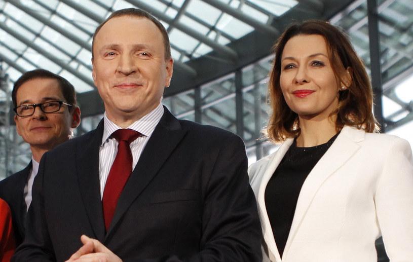 Anna Popek pozuje z Jackiem Kurskim /Stefan Maszewski /Reporter
