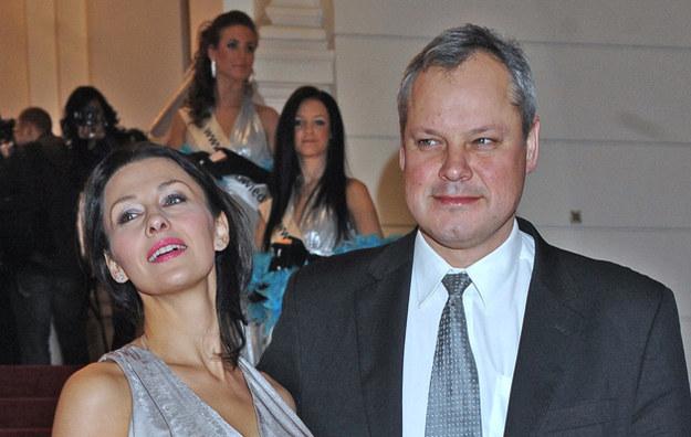 Anna Popek z mężem Andrzejem /Andras Szilagyi /MWMedia