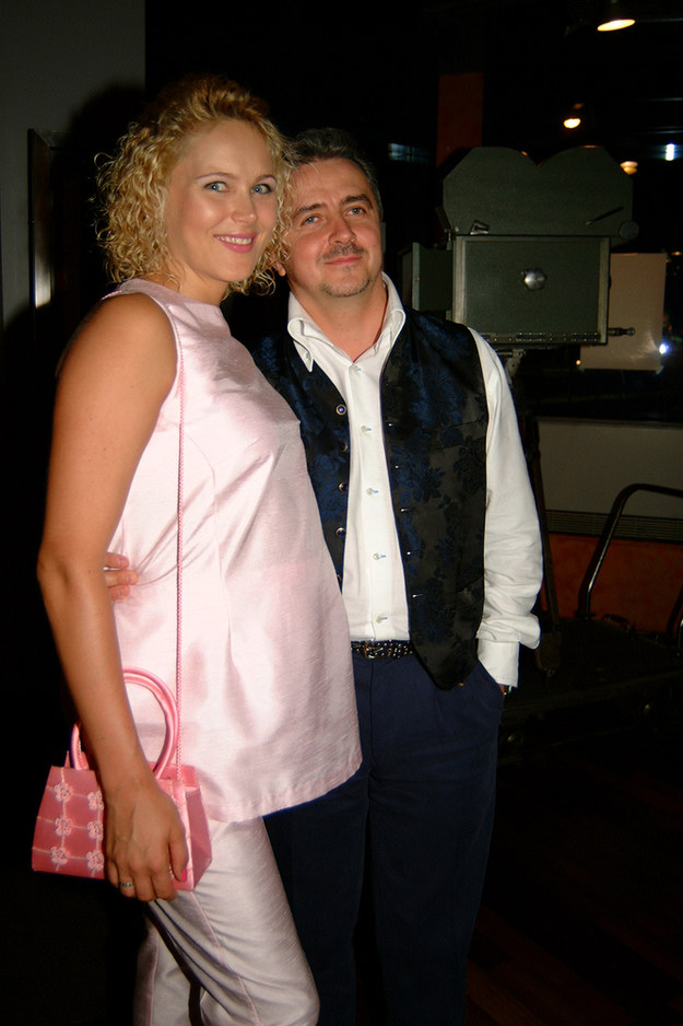 Anna Samusionek i Krzysztof Zuber - 2002 r. /Niemiec /AKPA