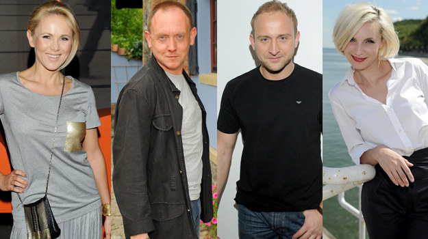 Anna Samusionek i Paweł Burczyk, Borys Szyc i Sylwia Gliwa /  /Agencja W. Impact