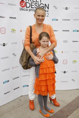 Anna Samusionek z córką Andżeliką /fot  /AKPA