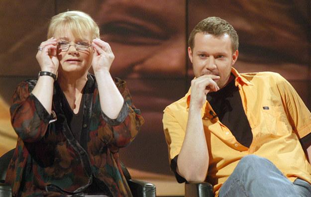Anna Seniuk z synem Maciejem Małeckim, fot.Zawada  /AKPA