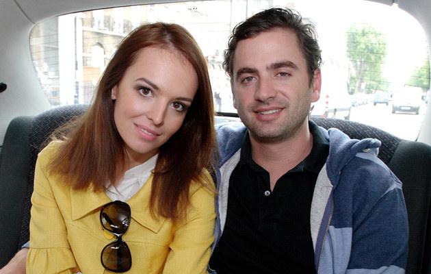 Anna Wendzikowska z mężem Chrisem w Londynie, fot.Piotr Apolinarski  /Agencja FORUM