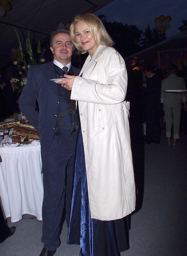 Anna z byłym mężem /- /AKPA