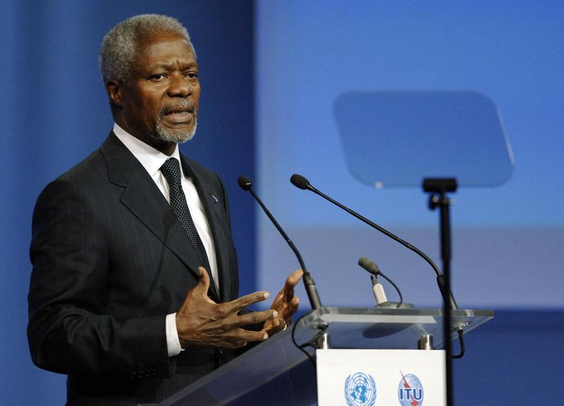 Annan uważa, że walka z ociepleniem klimatu walką o przeżycie /AFP