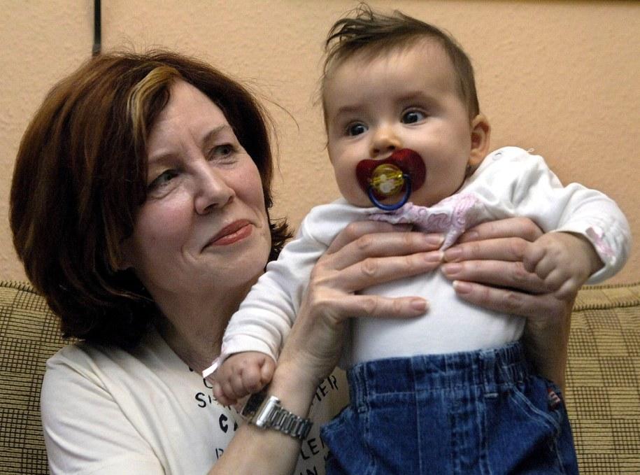 Annegret Raunigk z córką Leilą (zdj. sprzed 10 lat) /Patrick Lux /PAP/EPA