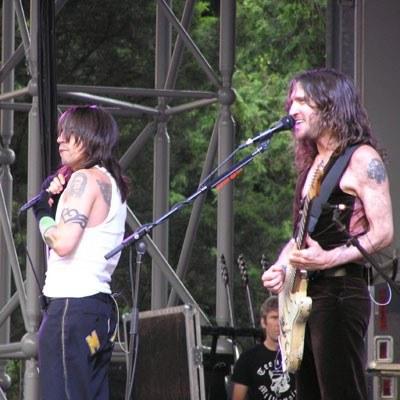 Anthony Kiedis i John Frusciante (RHCP) w Berlinie /INTERIA.PL