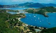 Antigua, port English Harbour /Encyklopedia Internautica