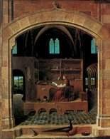 Antonello da Messina, Święty Hieronim przy pracy, 1475-76 r. /Encyklopedia Internautica