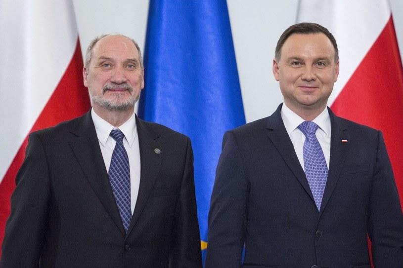 Antoni Macierewicz i Andrzej Duda /Andrzej Hulimka/Reporter /East News