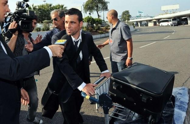 Antonio Di Natale tuż po powrocie z mundialu w RPA /AFP