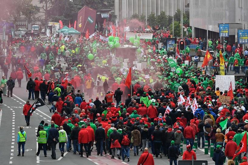 Antyrządowa demonstracja w Brukseli. Są ranni /AFP