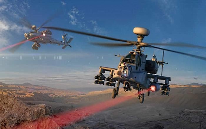 Apache uzbrojone w działo laserowe. Fot. Raytheon /materiały prasowe