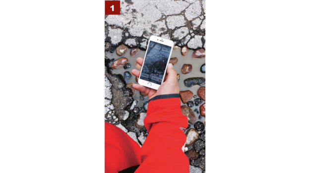 Aplikacja automatycznie przełącza się na aparat smartfona. Fotografia ułatwia lokalizację zdarzenia. /Motor