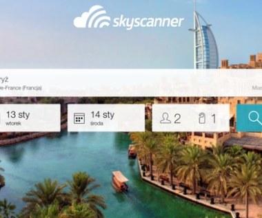 Aplikacja Skyscanner Hotele w wersji iOS