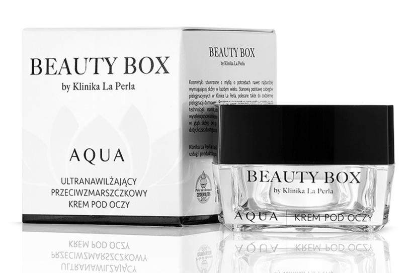 AQUA - Krem pod oczy od Beauty Box by Klinika La Perla /materiały prasowe