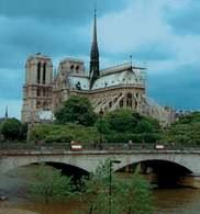 Architektura gotycka, katedra Notre-Dame, Paryż /Encyklopedia Internautica
