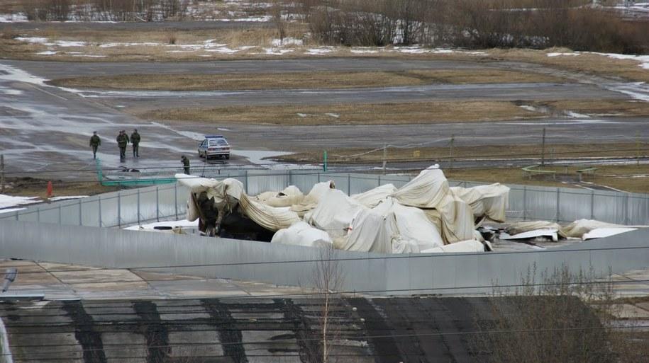 Archiwalne zdjęcie wraku Tu-154M /Michał Dukaczewski /Michał Dukaczewski, RMF FM