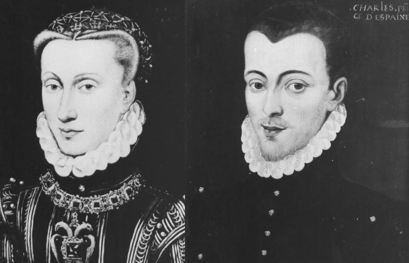Arcyksiążę Karol, Don Carlos oraz Anna, królowa Hiszpanii  (autorzy nieznani). Zdjęcia pochodzą z katalogu strat wojennych /Ministerstwo Kultury i Dziedzictwa Narodowego