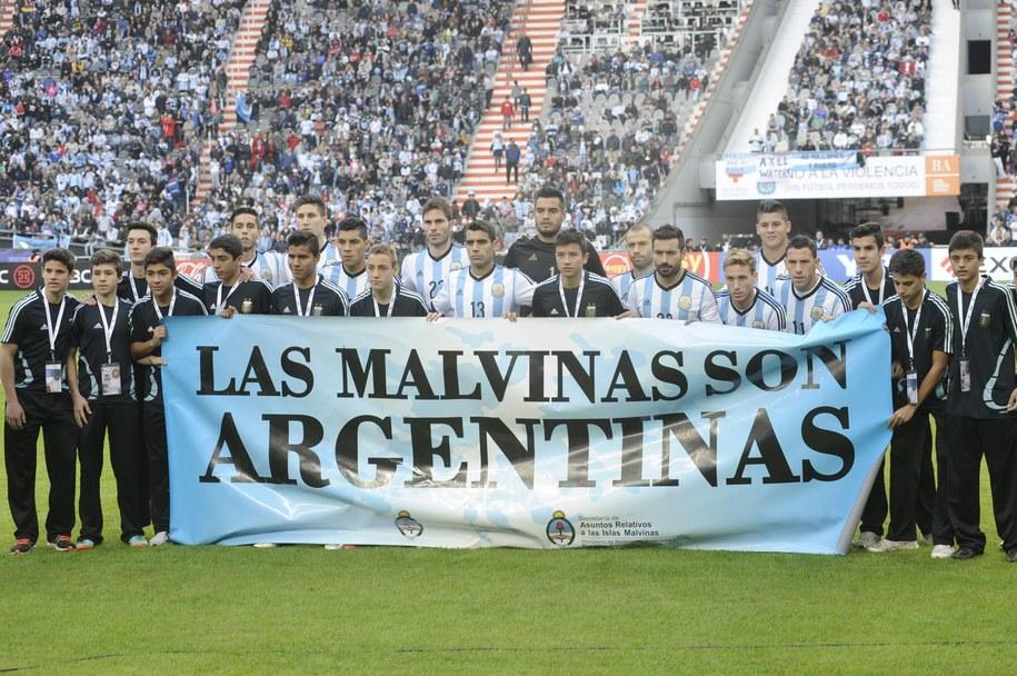 Argentyńska federacja zapłaci karę za kontrowersyjny baner /Demian Alday    /PAP/EPA