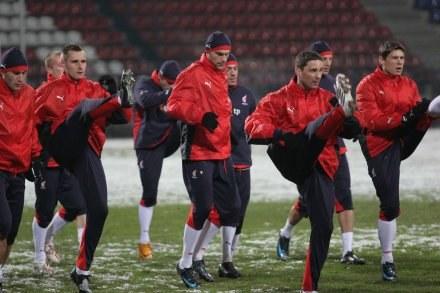 Arkadiusz Radomski i pozostali kadrowicze pilnie trenują przed meczem z USA Fot. Ryszard Kotowski /INTERIA.PL