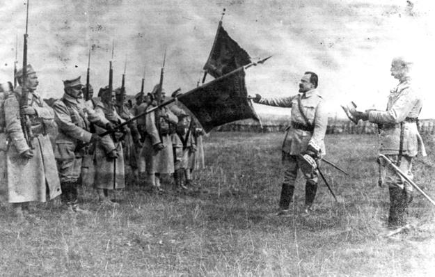 Armia polska we Francji - objęcie dowództwa przez generała Józefa Hallera / Fot. Archiwum Narodowego Archiwum Cyfrowego