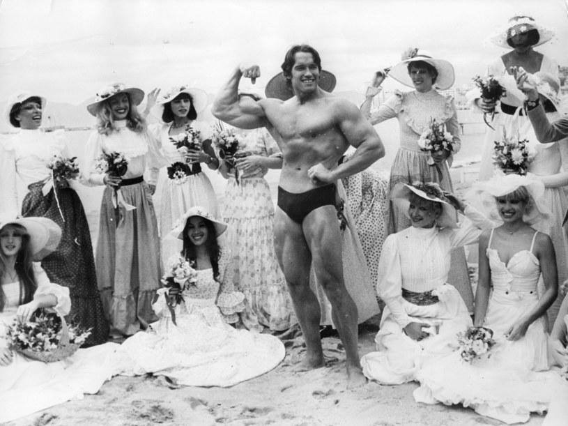 Arnold Schwarzenegger w 1977 roku /Getty Images