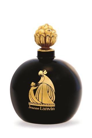 Arpège, perfumy, które Jeanne Lanvin, założycielka słynnego paryskiego domu mody, stworzyła  dla swojej córki.  Stały się sławne również z uwagi  na piękny falkon  z rysunkiem  Paula Iribe'a. /Mat. Prasowe