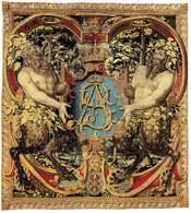 Arras wawelski z monogramem króla Zygmunta Augusta, ok.1560, /Encyklopedia Internautica