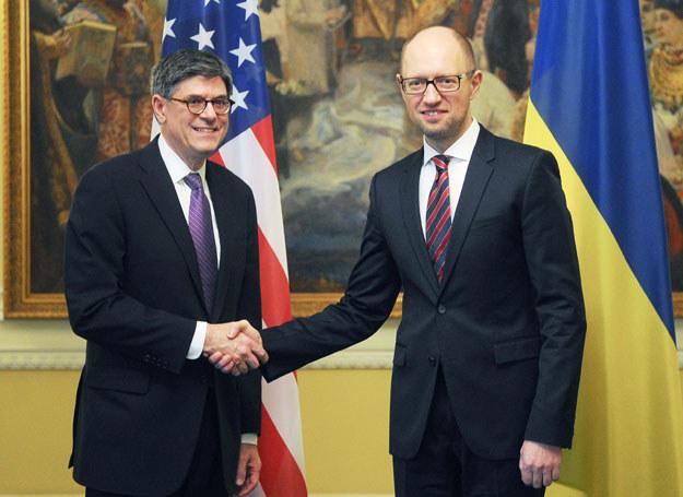 Arsenij Jaceniuk i Jack Lew //AFP ANDREW KRAVCHENKO /AFP
