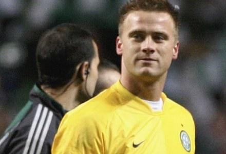 Artur Boruc może zaliczyć derby do bardzo udanych Fot. Jeff J Mitchell/Getty Images /