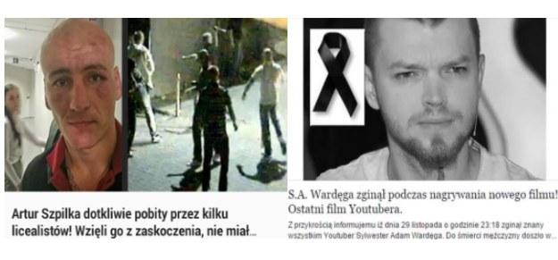 """""""Artur Szpilka pobity przez licealistów"""" i """"S.A. Wardęga nie żyje"""" - uważajcie, to kolejne facebookowe oszustwa /materiały prasowe"""