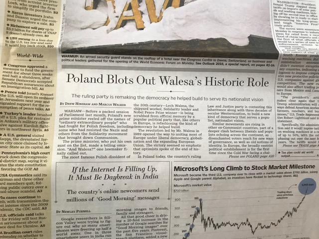 """Artykuł """"The Wall Street Journal"""" /Krzysztof Berenda /RMF FM"""