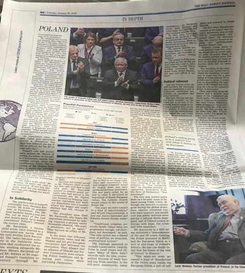 """Artykuł z """"The Wall Street Journal"""" /Krzysztof Berenda /RMF FM"""