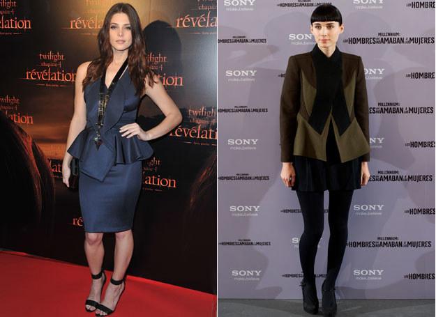 Ashley Greene i Rooney Mara wiedzą, jak nosić baskinkę /Getty Images/Flash Press Media