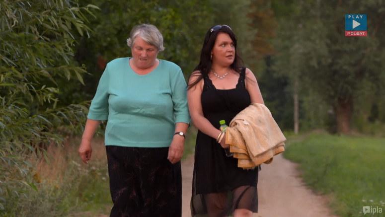 Asia z panią Tereską, mamą Ryśka /Polsat