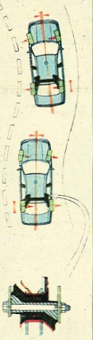 Asymetryczne tulejki gumowe wahaczy tylnych zmniejszają efekt oddziaływania tylnej osi na kierowanie samochodem. /Motor