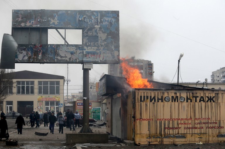 Atak na Mariupol /AFP