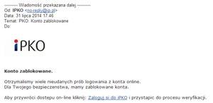 Atak phishingowy na klientów PKO