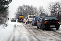 Atak zimy na drogach Podkarpacia