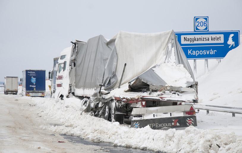 Atak zimy na Węgrzech /AFP