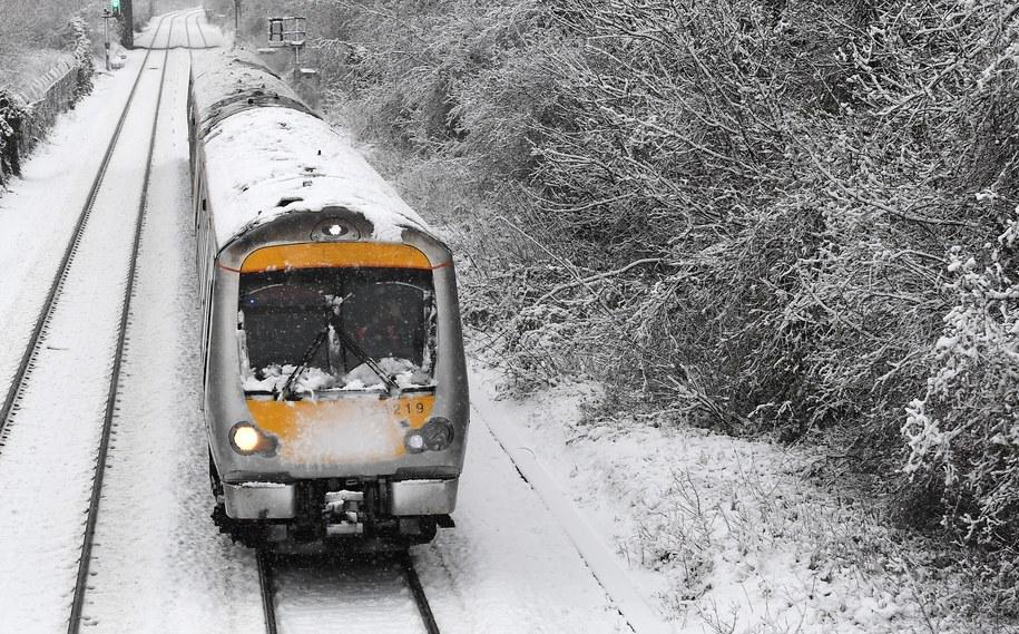 Atak zimy w Wielkiej Brytanii /ANDY RAIN /PAP/EPA