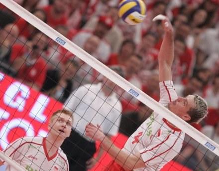 Atakuje Daniel Pliński/Fot: Jerzy Kleszcz /Agencja Przegląd Sportowy