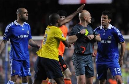 Atmosfera na Stamford Bridge była bardzo gorąca /AFP