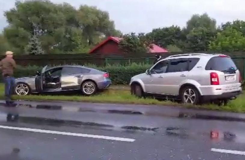 Audi A5 wylądowało w rowie /INTERIA.PL