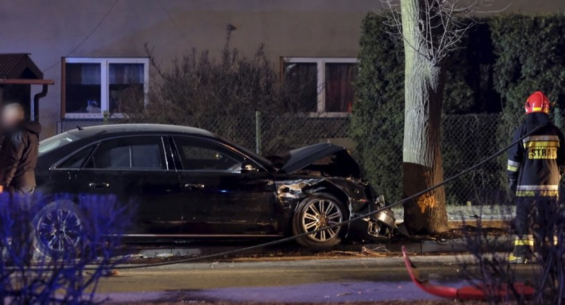 Audi A8 z Beatą Szydło uderzyło w drzewo próbując uniknąć wypadku z Fiatem Seicento /Andrzej Grygiel /PAP