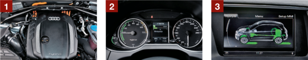 audi q5 silnik, wyświetlacz, zasięg /Motor