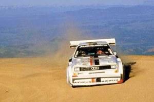 Audi sport quattro S1 w wyścigu w chmurach...