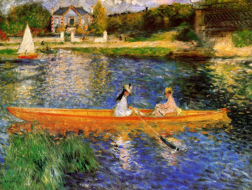 Auguste Renoir - Na brzegu Sekwany /Wikiart.org /INTERIA.PL/materiały prasowe